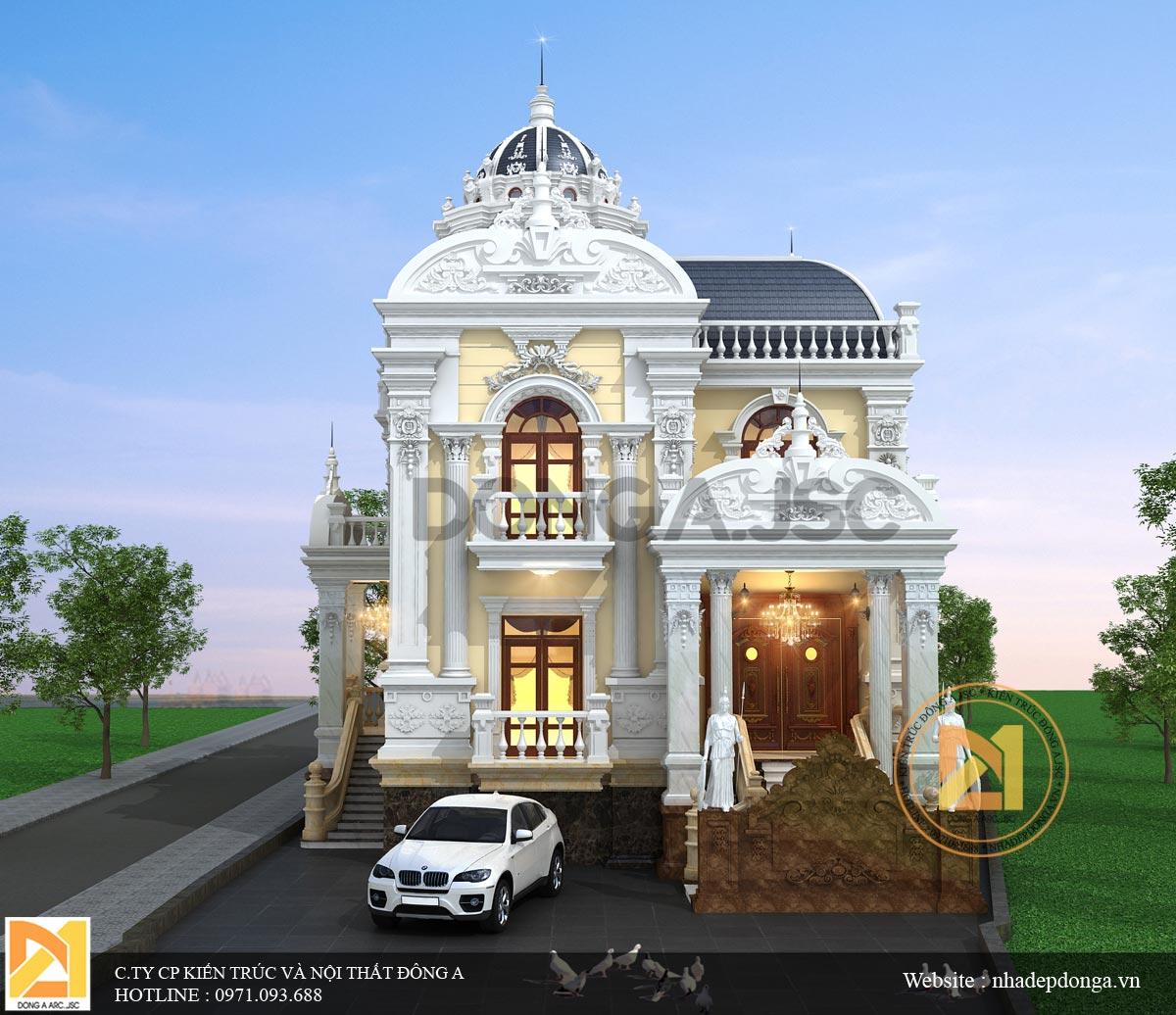 Biệt thự Pháp 2 tầng hoành tráng đẹp nhất Hà Tĩnh